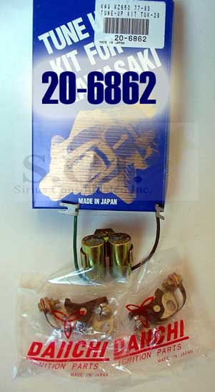 Details about KAWASAKI KZ550 KZ650 TUNE UP KIT POINTS CONDENSOR