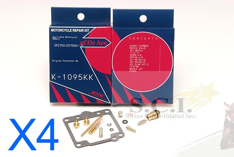 Kawasaki Gpz750 Kz750 Zx750 A1 A3 Carburetor Rebuild Repair Kits 1982