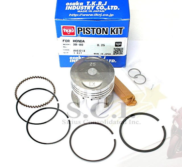HONDA XR80 XR 80 XR80R PISTON KIT 0.25 OVER PISTON RINGS