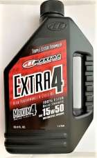 Maxima 32901 EXTRA4 15W-50 Synthetic 4T Motorcycle Engine Oil 1 Liter Bottle