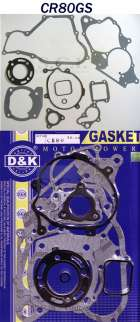HONDA CR80 COMPLETE ENGINE GASKET SET 1992 - 2002