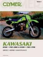 Clymer Kawasaki KX60, 1983-2002 and KX80 1983-1990 Repair Manual