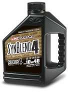 Maxima 349128B Syn Blend4 10W-40 Motorcycle Engine Oil 1 Gallon Jug