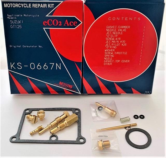 SUZUKI GT125 KEYSTER CARBURETOR REBUILD REPAIR KIT 1974- 1980