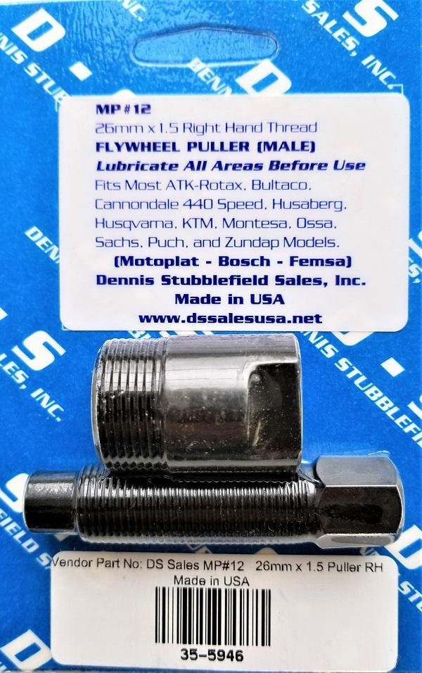 MP#12 26mm x 1.5mm MALE FLYWHEEL PULLER