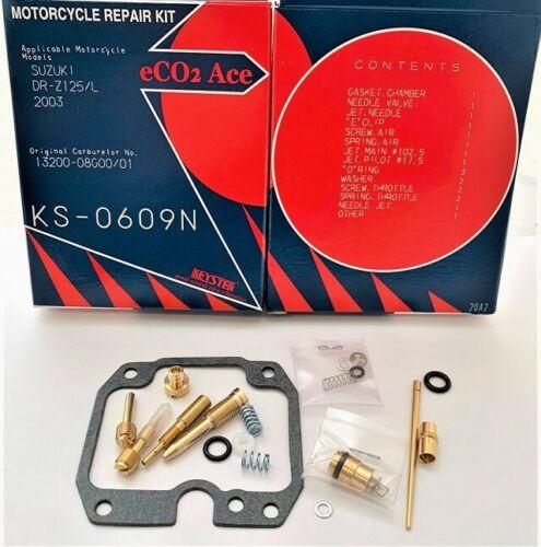 SUZUKI DR-Z125 DRZ125 2003 - 2017 KEYSTER CARBURETOR REBUILD REPAIR KIT