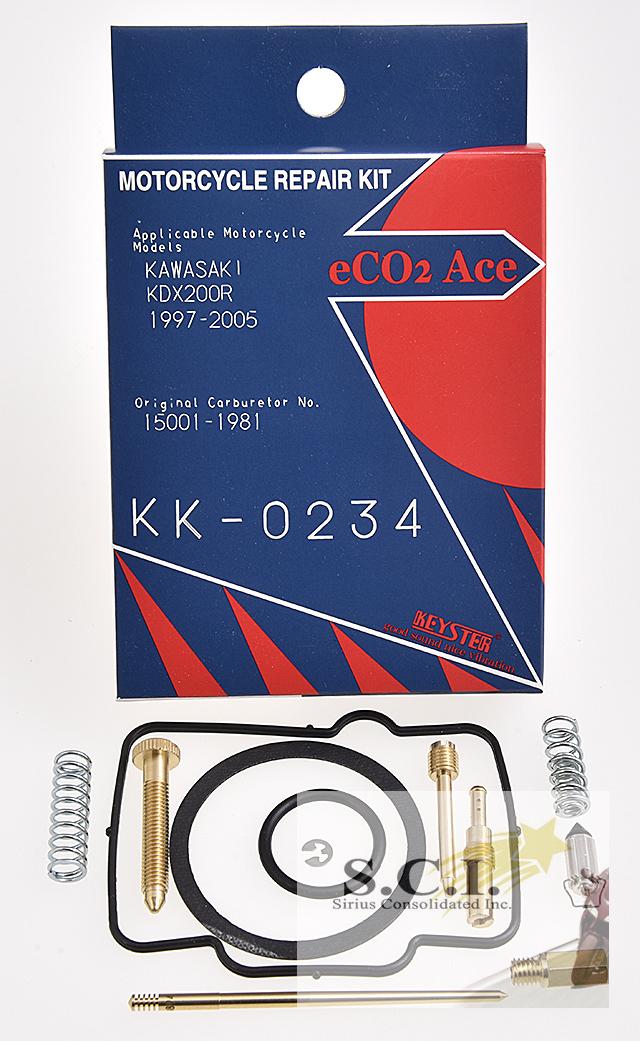 KAWASAKI KDX220R KEYSTER CARBURETOR CARB REBUILD REPAIR KIT