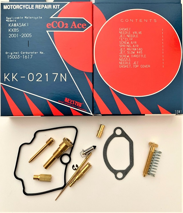 KAWASAKI KX85 KEYSTER CARB REPAIR KIT 2001 - 2006