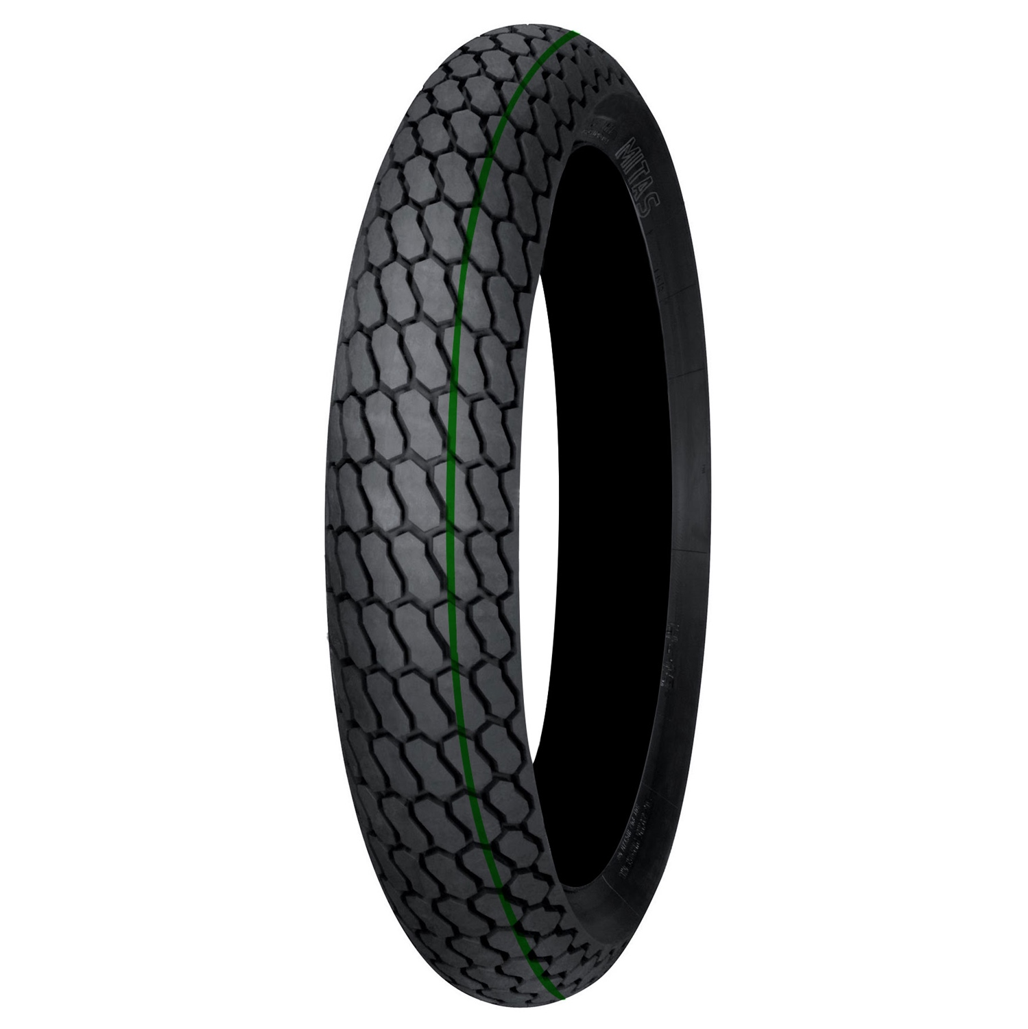 MITAS FLAT TRACK GREEN STRIPE NHS TUBED FRONT TIRE 130/80-19 27.0 x 7.0-19