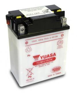 YUASA BATTERY YB12C-A SHIPS DRY