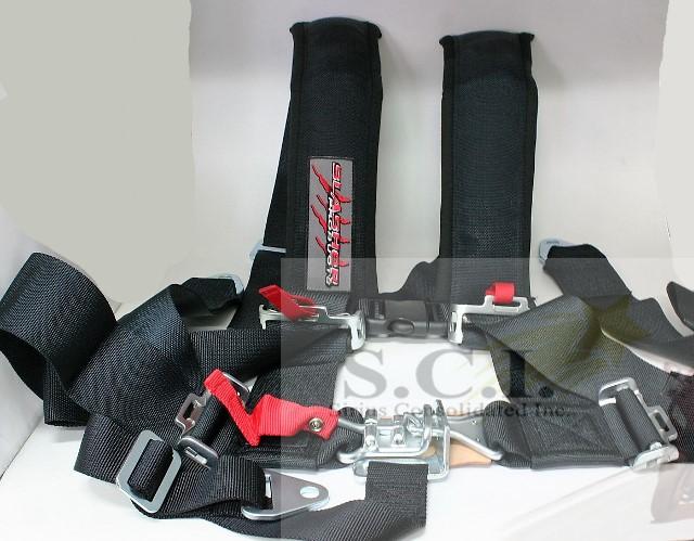 Slasher Products 3x3 BLACK 5 point Restraint Harness Black JT-6000