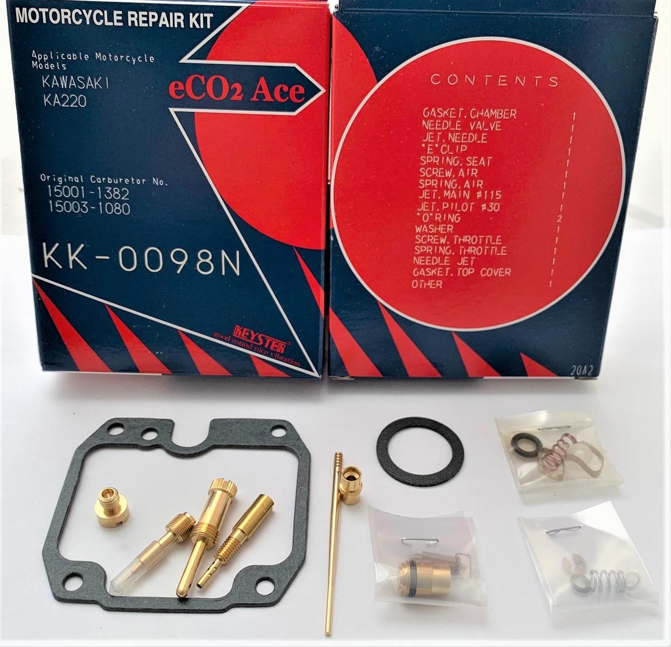 KAWASAKI KLF220 BAYOU KEYSTER CARBURETOR REBUILD REPAIR KIT 1988 - 2002