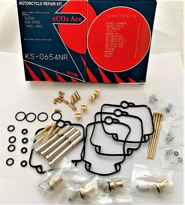 SUZUKI GSX-R750 GR7BB KEYSTER CARBURETOR REPAIR REBUILD KIT 1992 - 1995