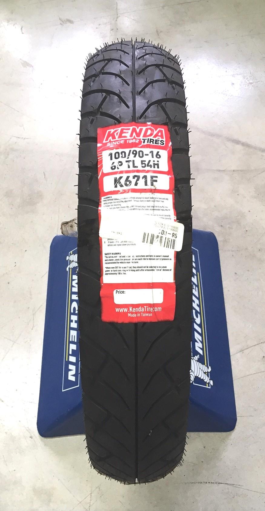 KENDA K671 FRONT 100/90-16 TIRE