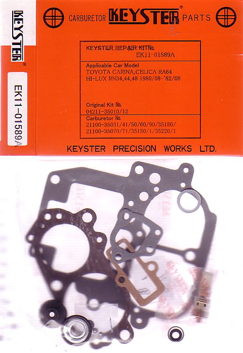 TOYOTA TACOMA CELICA 22R KEYSTER CARB KIT 1980 - 1982