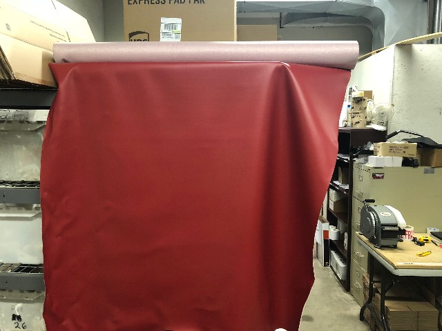 MOTORCYCLE SEAT COVER MARINE RED VINYL 54