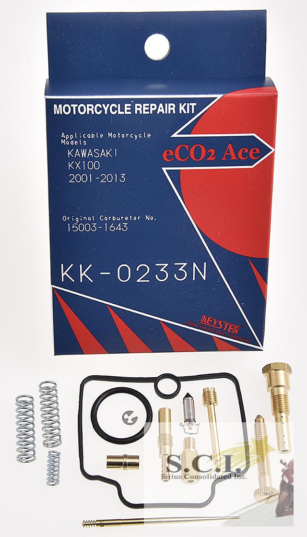 KAWASAKI KX100 KEYSTER CARBURETOR CARB REBUILD REPAIR KIT