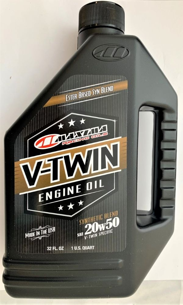 Maxima Racing Oils 30-14901 20w50 V-Twin Synthetic Blend Engine Oil - 32 fl. oz.