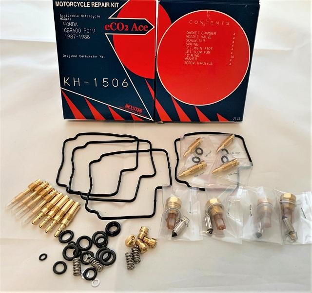 HONDA CBR600 PC19 KEYSTER CARBURETOR REPAIR KIT 1987 - 1988