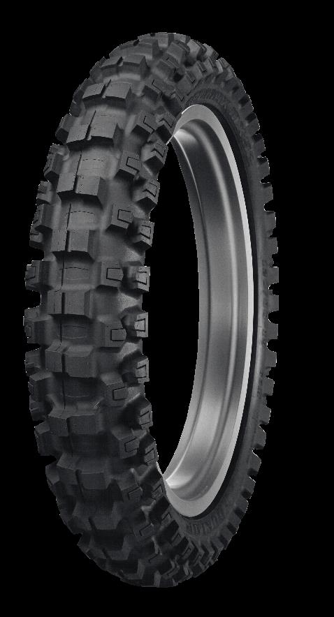 Dunlop Geomax MX52 Intermediate/Hard Rear Tire - 100/90-19