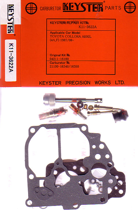 TOYOTA COROLLA GTS LEVIN AE92 CARB KIT 1987 - 1991