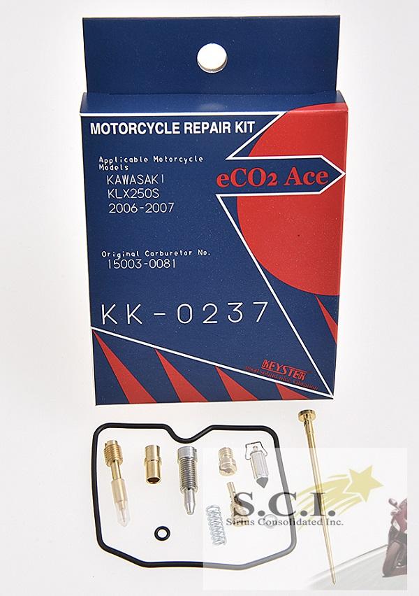 KAWASAKI KLX250S KEYSTER CARBURETOR CARB REBUILD REPAIR KIT