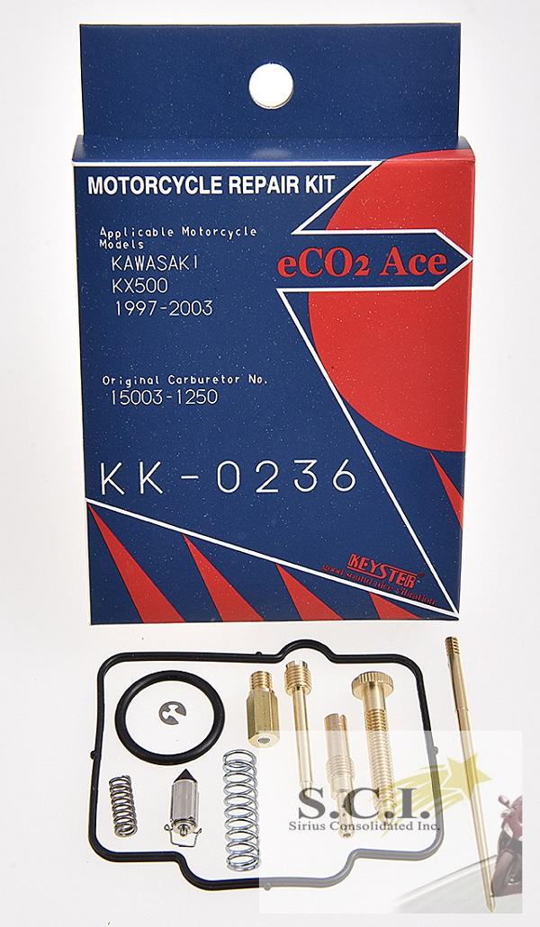 KAWASAKI KX500 KEYSTER CARBURETOR CARB REBUILD REPAIR KIT