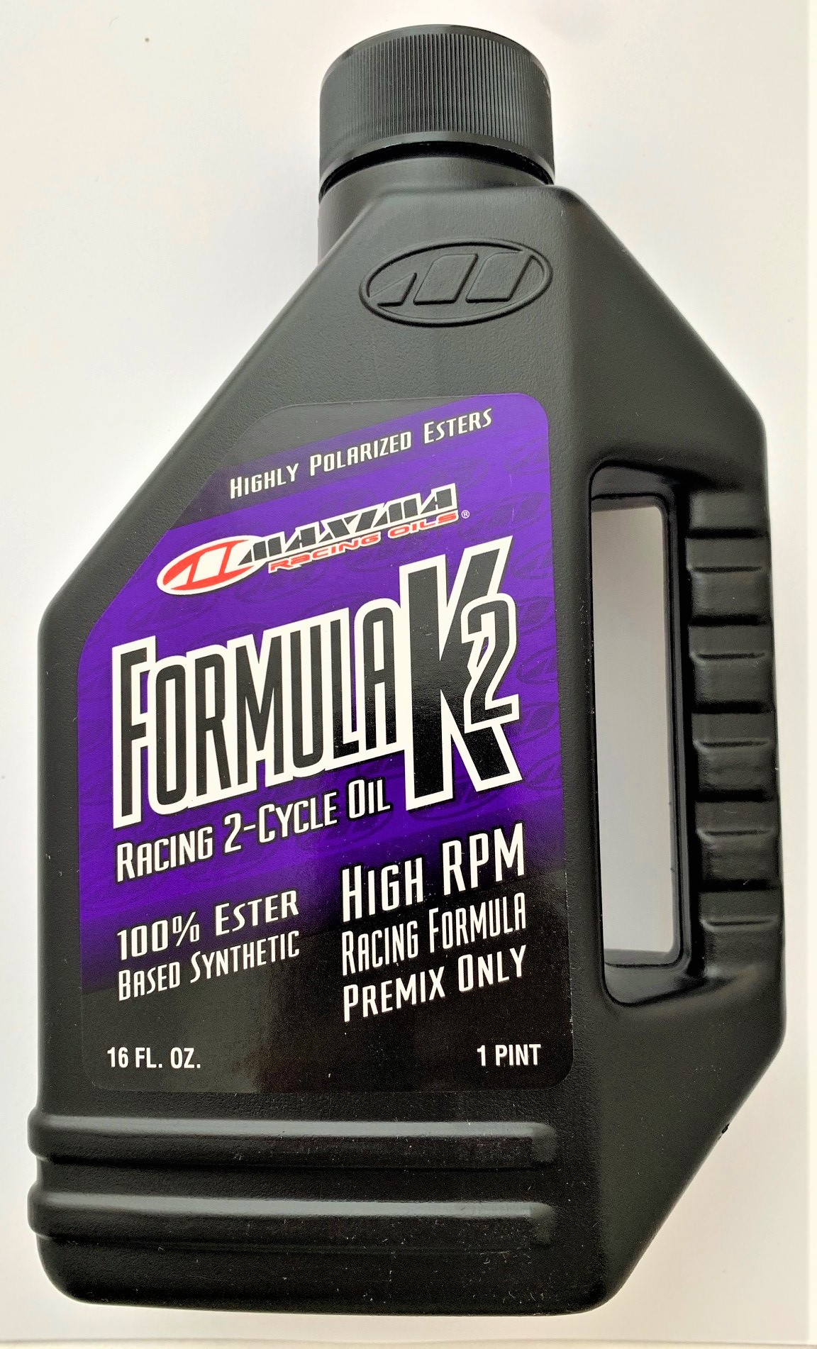 Maxima 22916 Formula K2 2-Stroke Synthetic Racing Premix Oil - 16 oz. Bottle