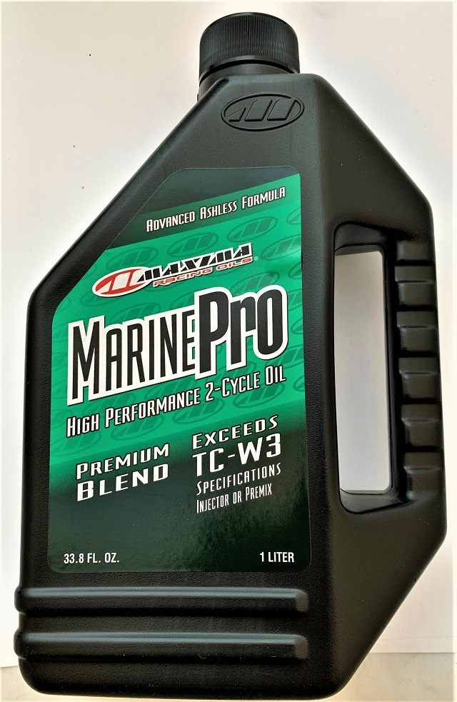 Maxima 25901 Marine Pro 2-Stroke TC-W3 Premix Injector Oil - 1 Liter
