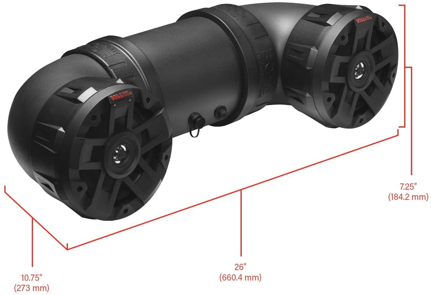 Boss Audio ATVB6.5R All-Terrain Sound System Two 6.5 Weatherproof Speakers Tweeters
