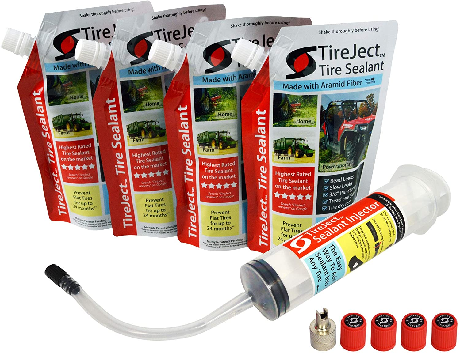 4 x TIRE TireJect Tire Protection kit Liquid