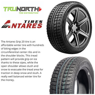 ANTARES 225/65R16 WINTER GRIP 20 100S BW SNOW TIRE