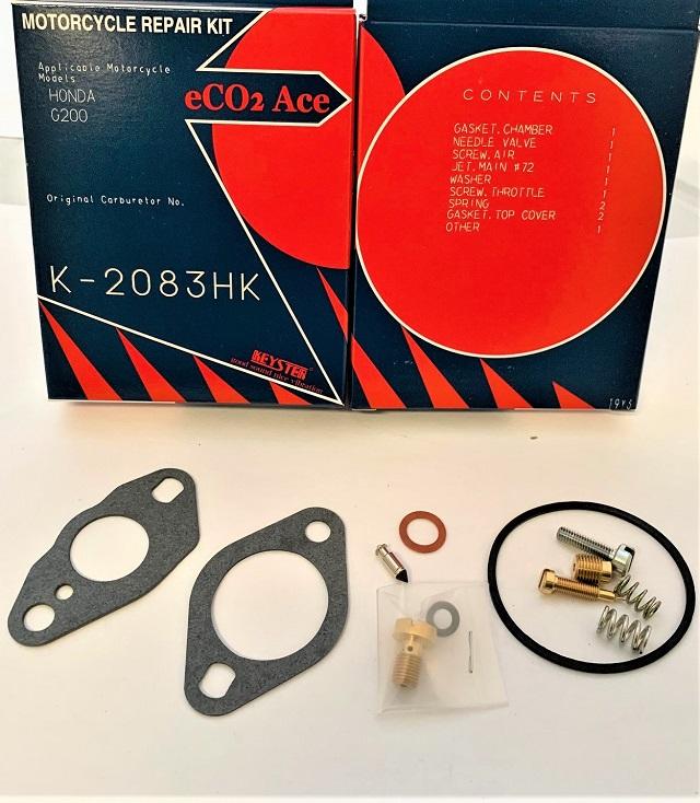HONDA G200 5.5 HP COMPRESSOR AND GENERATOR MOTOR KEYSTER CARBURETOR REBUILD REPAIR KIT