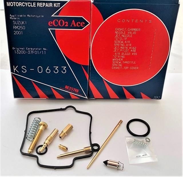 SUZUKI RM250 KEYSER CARBURETOR REBUILD REPAIR KIT 2001