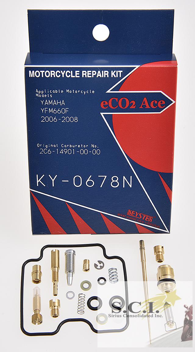 YAMAHA YFM660F GRIZZLY KEYSTER CARBURETOR CARB REBUILD REPAIR KIT