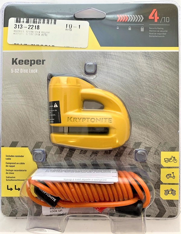 KRYPTONITE KEEPER 5 S2 DISC LOCK YELLOW 000884