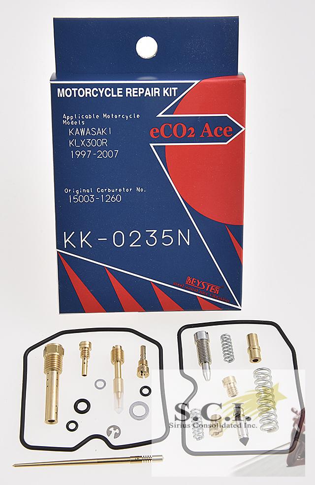 KAWASAKI KLX300R KEYSTER CARBURETOR CARB REBUILD REPAIR KIT