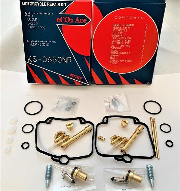 SUZUKI DR800 SR43 KEYSTER CARBURETOR REPAIR REBUILD KIT 1991 - 1997