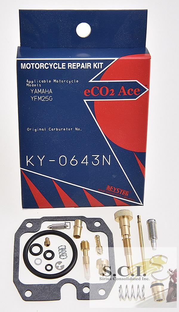 YAMAHA YFM125G KEYSTER CARBURETOR CARB REBUILD REPAIR KIT