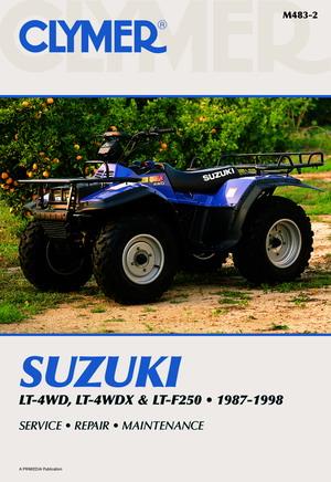 Clymer Suzuki LT 4WD LT F4WDX And LT F250 1987 1998